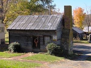 English: Slave cabin and kitchen at the Maden ...