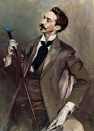 English: French poet, writer and dandy, Robert...