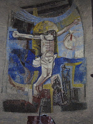 Modern mosaics in the church Preziosissimo San...