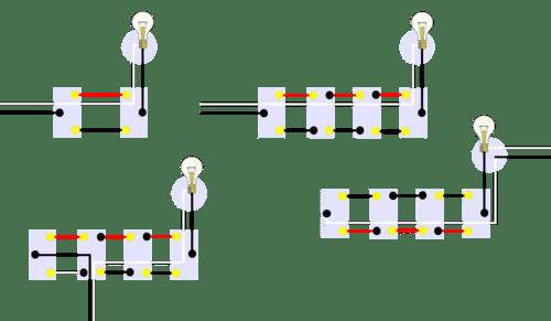 2 lights 1 switch wiring diagram panasonic car radio stereo audio multiway switching wikipedia four sample arrangements