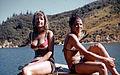 Pauline and Georgie, Bay of Many Coves, Marlborough, New Zealand, 1970.jpg