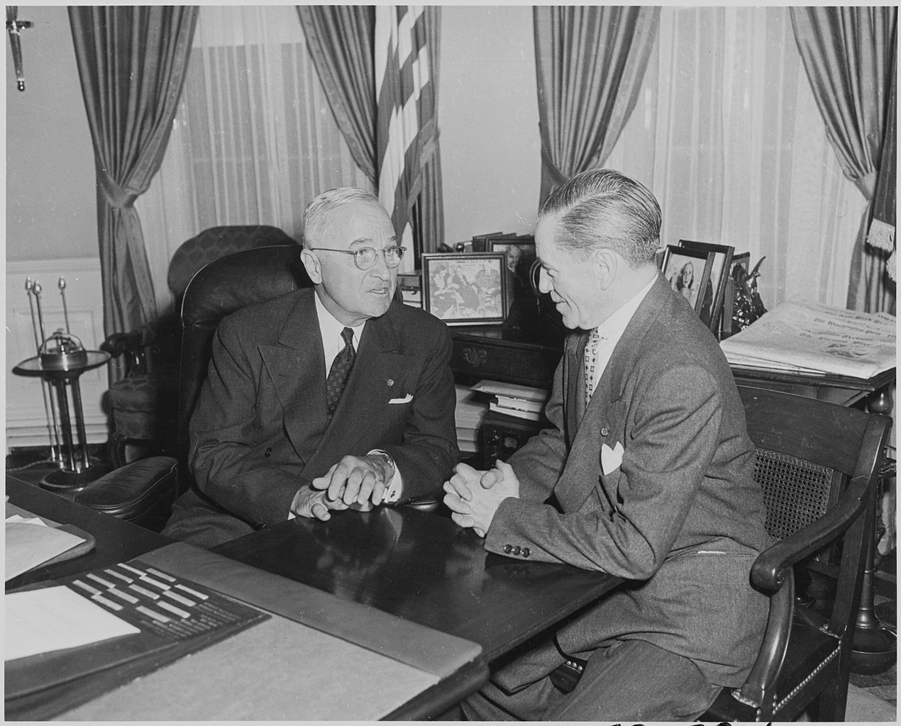 FilePhotograph of President Truman in the Oval Office