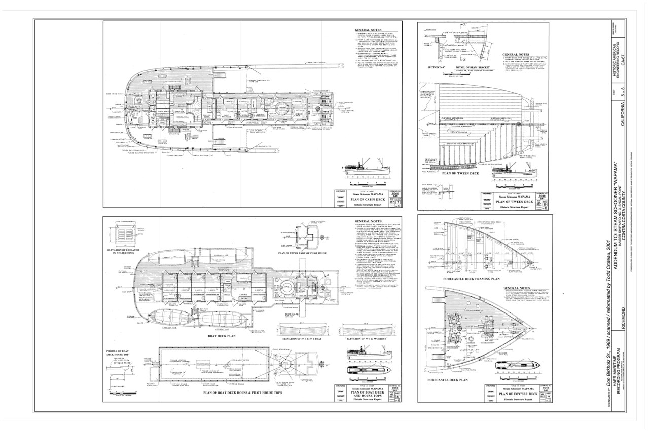 File Plan Of Cabin Deck Plan Of Boat Deck And House Tops