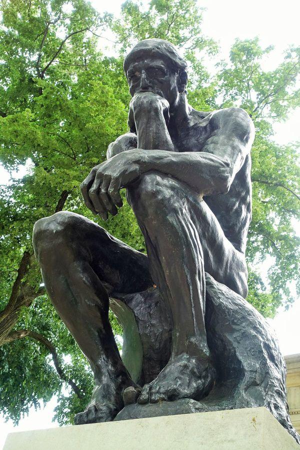 """ Thinker"" Auguste Rodin Museum Philadelphia"