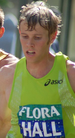 Ryan Hall at London Marathon
