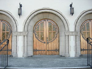 Main entrance, 7th Church of Christ Scientist,...