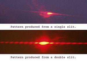 Single slit makes diffraction pattern not sing...
