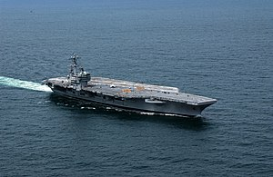 The aircraft carrier USS George H.W. Bush (CVN...