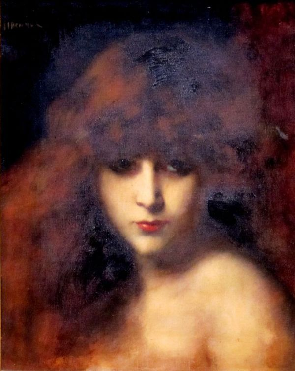 File 'head Of Woman' Jean Jacques Henner Dayton Art
