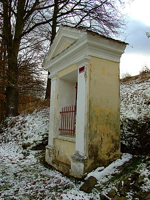 U Anáše chapel in Římov, passion tour depictin...