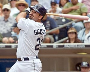 Adrian Gonzalez San Diego Padres first baseman...