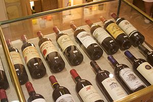 An assortment of French wine from the Saint Ém...