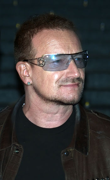 English: Bono at the Vanity Fair kickoff party...