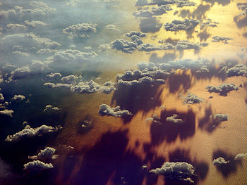 English: clouds and shadows over the Mediterranean
