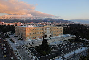 English: The Hellenic Parliament building in A...