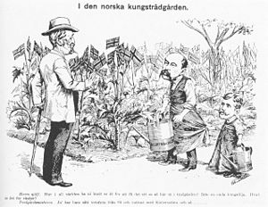 """Svenska: Kungen med """"trädgårdsmästaren&qu..."""