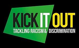 English: Kick It Out logo