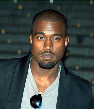 Kanye West at the Vanity Fair kickoff part for...