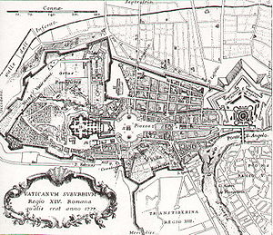 Map of Borgo (rione of Rome)