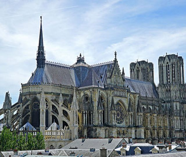Reims Cathedral From The Northwest