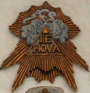 Image of the divine name Iehova printed on Sør...