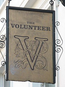 Sign for The Volunteer, 245-247 Baker Street, NW1 - geograph.org.uk - 1522370