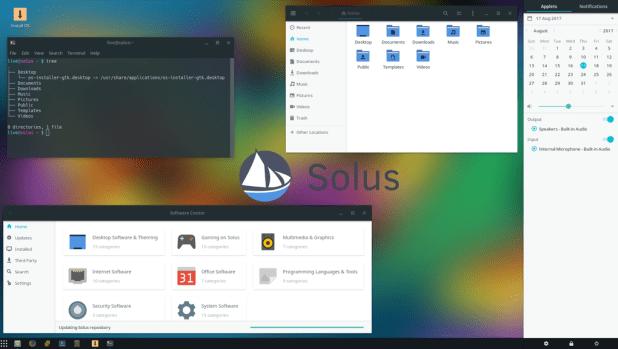 Capture d'écran de Solus 3 Budgie