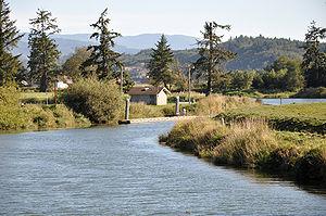 English: Trask River at Tillamook, Oregon, in ...