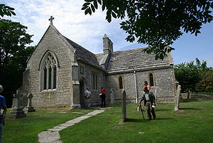 English: St. Marys church in Tyneham Hrvatski:...