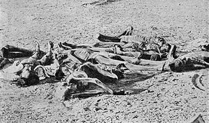 English: British India. Corpses of famine vict...