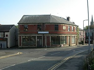 English: Walshaw, old Co-op At the junction of...