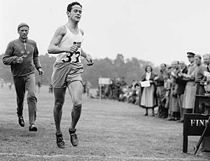 English: William Grut winning the gold medal f...