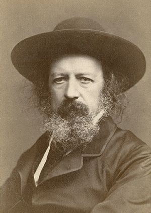 English: Alfred Lord Tennyson, autographed por...