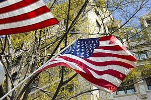 English: The flag, on display in Washington DC.