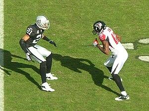 Oakland Raiders cornerback Nnamdi Asomugha (#2...