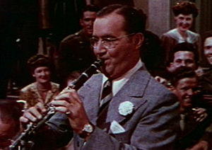 Cropped screenshot of Benny Goodman from the t...