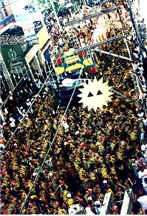 Carnival in Sa;vador, Bahia - 1997