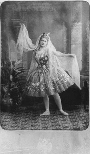 Photographic postcard of the ballerina Anna Jo...