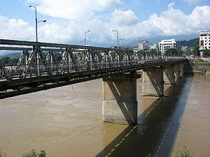 English: Cốc Lếu Bridge, Lào Cai City, Việt Nam