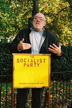 Danny Lambert of the Socialist Party of Great ...