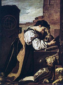Melancolía, de Domenico Fetti (1589-1623).