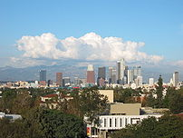 Downtown Los Angeles taken from the roof of th...