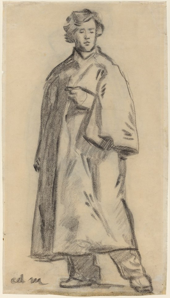 Edouard Manet, Man Wearing a Cloak (recto), 1852-1858, NGA 74188.jpg