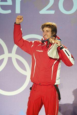 English: Gregor Schlierenzauer celebrates his ...