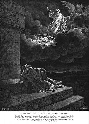 Elijah taken up into heaven, by Gustave Doré (...