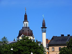 Katarina Church and the minaret of the Stockho...