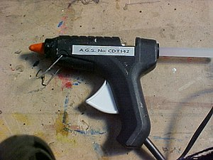 A glue gun. Picture by Luke Surl I hearby rele...