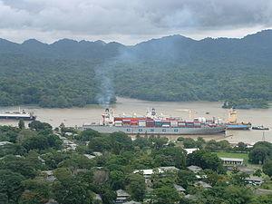 Panama Canal with Three Ship