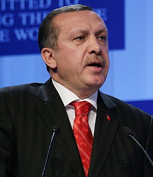 Recep Tayyip Erdogan, Prime Minister of Turkey captured during the session 'The New Comparative Advantages' at the Annual Meeting 2006 of the World Economic Forum in Davos, Switzerland, January 27, 2006.