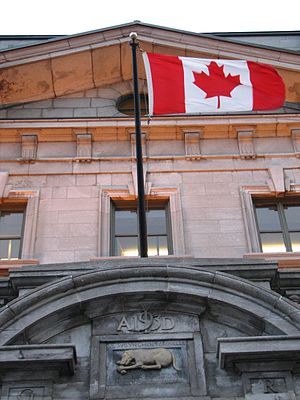 Canadian Flag in Quebec City